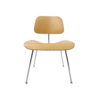 120 Charles Eames DCM Bent Plywood & Steel Chairs for Herman Miller in White Ash