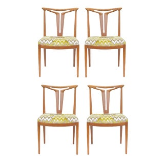 """American Modern """"T-Back"""" Dining Chairs - Set of 4"""