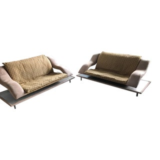 Contemporary Chic Sofa Love Seats - A Pair