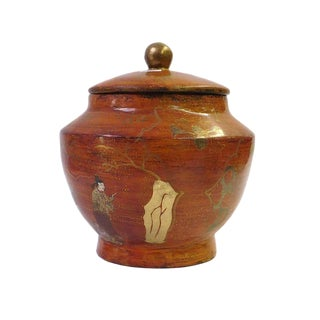 Chinese Brown Lacquer Painted Container