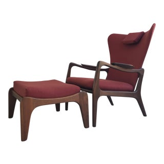 Adrian Pearsall Mid-Century Lounge Chair & Ottoman