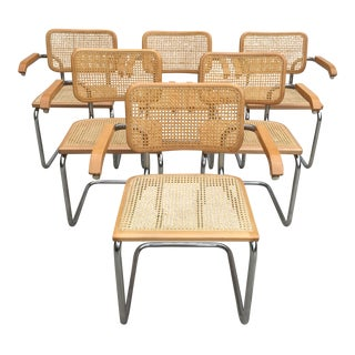 Marcel Breuer Cesca Style Dining Chairs - Set of 6