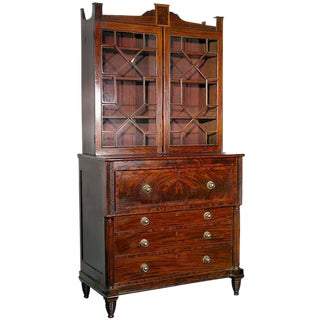 Mahogany Federal Secretary with Drop-front Desk Drawer