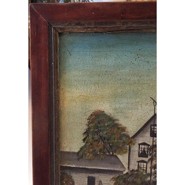 19th Century Folk Art Oil on Canvas Painting - Image 4 of 7