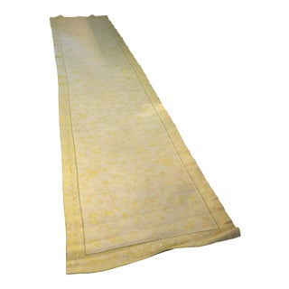 Yellow & Ivory Floral Runner - 3′6″ × 15′4″