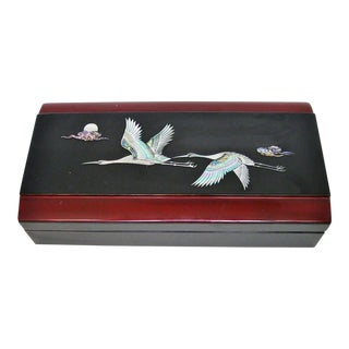 Japanese Lacquered Storage Box