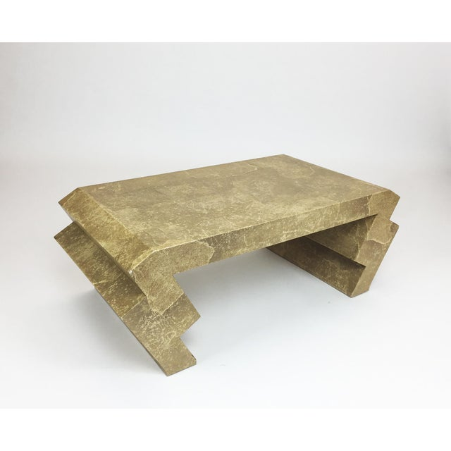 Image of Vintage Goatskin Coffee Table in the Style of Karl Springer