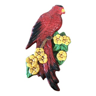 Vintage Red Bird Wall Plaque