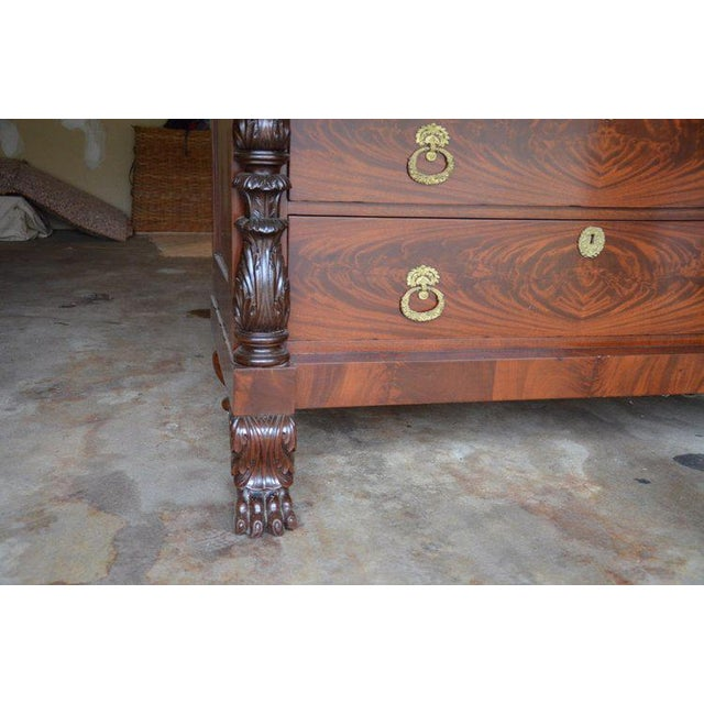 Antique French Style Claw Foot Marble Top Commode - Image 7 of 8