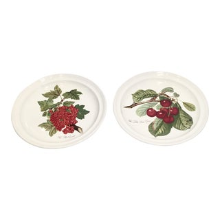 "Pomona Portmeirion ""The Goddess of Fruit"" Plates- Set of 2"