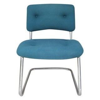 Vintage Steelcase Armless Turquoise Task Chair