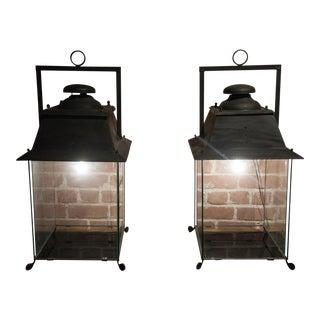 Pair of French Hanging Lanterns