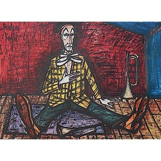 "Vintage Bernard Buffet Color Print ""Le Cirque"""