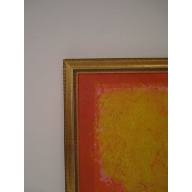 Abstract Painting Paris Signed Framed Acrylic - Image 8 of 11