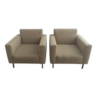 Modern Neutral Accent Chairs - A Pair