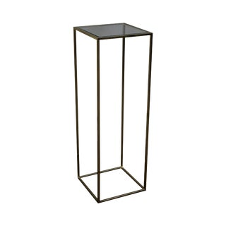 Contemporary Modern Design Brass & Glass Pedestal Plant Stand