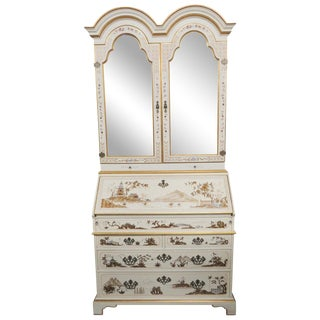 Chinoiserie Paint Decorated Secretary Desk