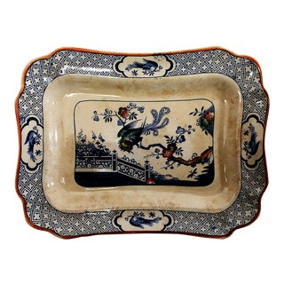 Mid-19th C. Porcelain Platter by Norfolk