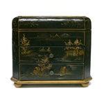 Image of Handmade Chinese Black & Golden Jewelry Box