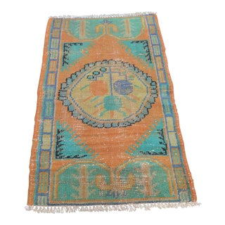 Small Antique Kitchen Rug - 2′6″ × 4′3″