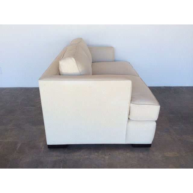 Contemporary White Love Seat - Image 3 of 7