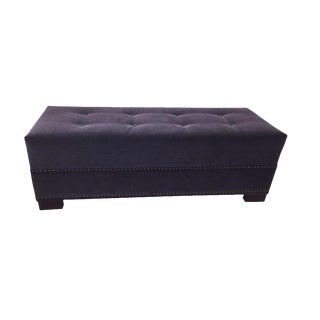 Gray Button Tufted Ottoman/Bench