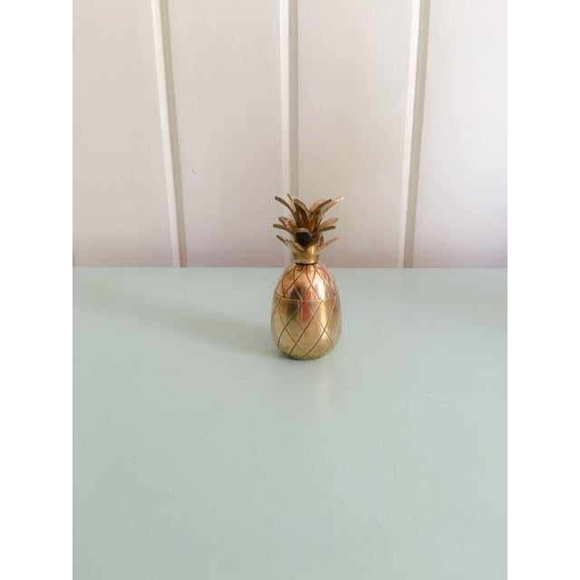 """Image of 3.5"""" Petite Brass Pineapple Container"""