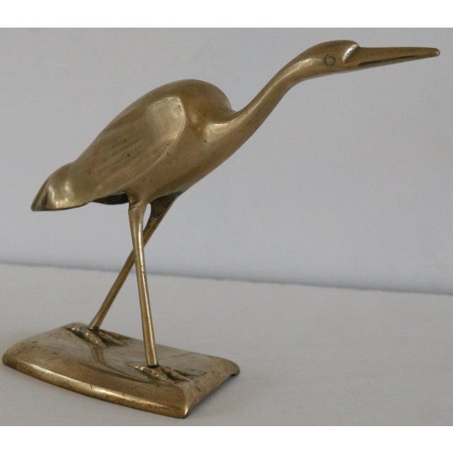 Brass Shore Bird Sculpture - Image 2 of 8