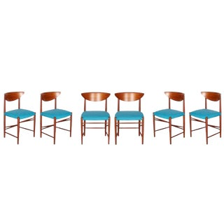 Teak Dining Chairs by Hvidt & Molgaard, Set of 6