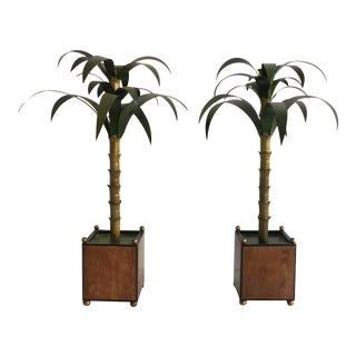 Vintage Italian Tole Palm Trees - A Pair