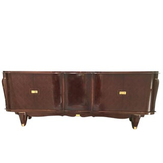 French 5-Door Curved Macassar Ebony Buffet