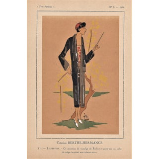1924 Art Deco Fashion Pochoir Illustration