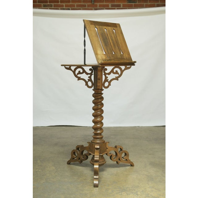 Monumental Italian Carved Oak Lectern Book Stand - Image 2 of 7