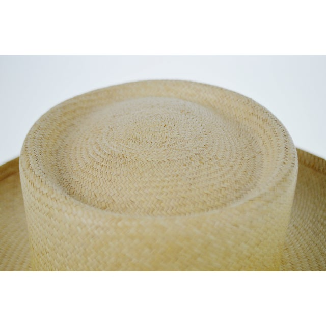 Vintage Genuine Hand-Woven Panama Hat - Image 4 of 10