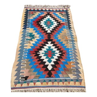 Vintage Turkish Kilim Rug - 2′8″ × 4′7″