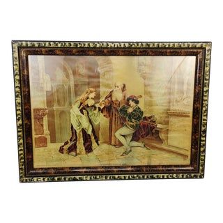 Antique 1894 p.o. Vickery Marriage of Romeo and Juliet Art Print