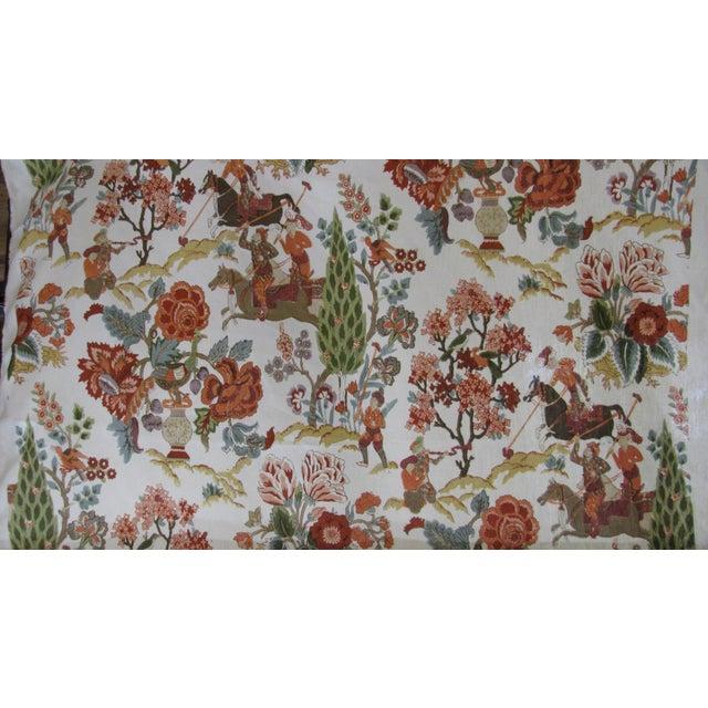 """Persian Lancers"" Schumacher Linen Fabric - 1 Yard - Image 2 of 4"