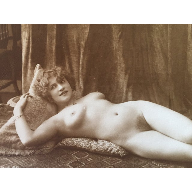 Antique French Art Deco Nude Photograph - Image 3 of 3