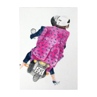 """Scoot Scoot"" Original Watercolor Painting"