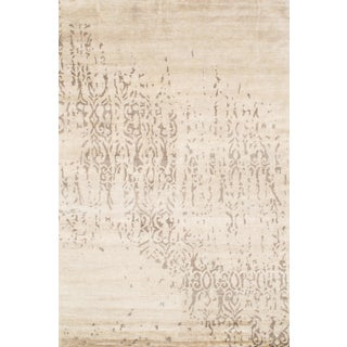 Pasargad NY Indo Modern Hand-Knotted Rug - 6′ × 9′