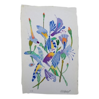 """""""Butterfly Lilies 3"""" Original Watercolor"""