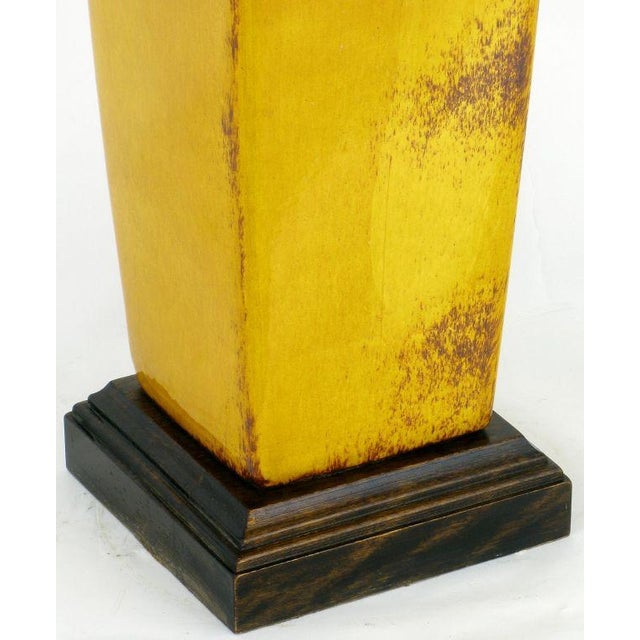 Saffron Glazed Vase Form Table Lamp By Frederick Cooper - Image 6 of 9
