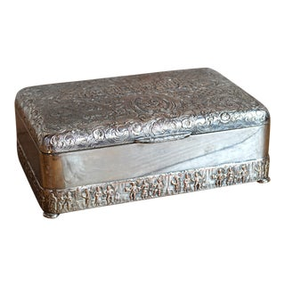 Silverplated Repoussé Lidded Box