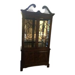 Henredon Tall Display Cabinet