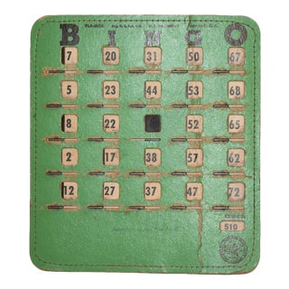 Vintage Reusable Green Bingo Card