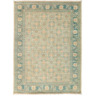 "New Khotan Hand-Knotted Rug - 4'10"" x 6'8"""