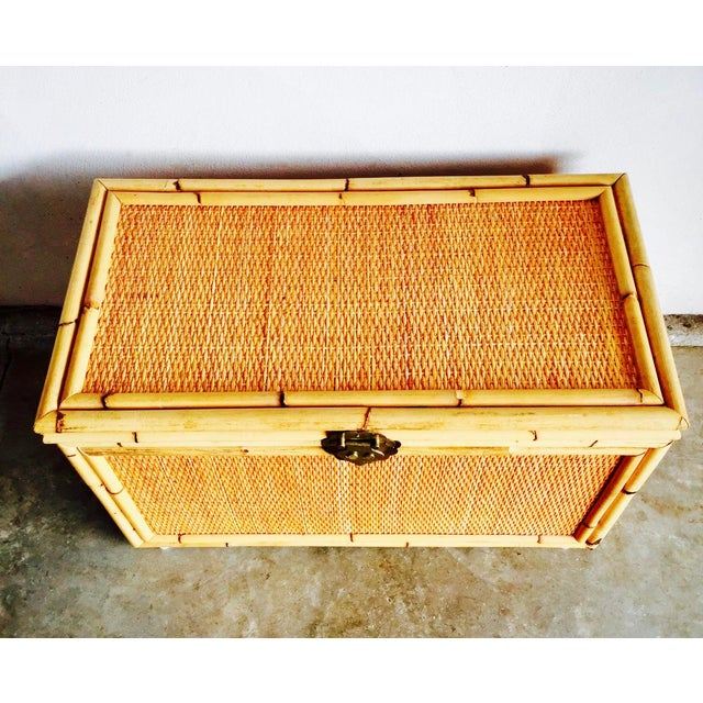Vintage Bamboo Trunk Blanket/Toy Chest - Image 3 of 8