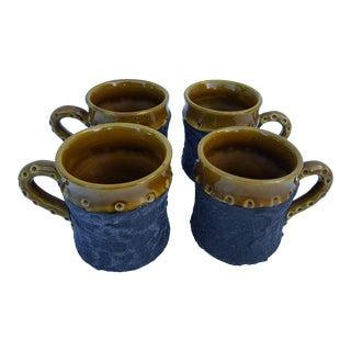 1970'S Italian Studio Pottery Coffee Mugs - Set of 4