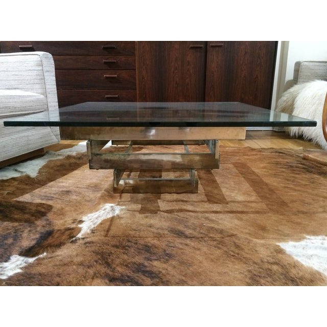 Paul Mayen Brass Stacked Coffee Table - Image 2 of 9