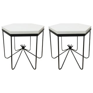 Hirondelle Hexagonal Side Tables - A Pair